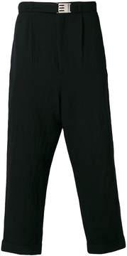 Miharayasuhiro loose fit cropped trousers
