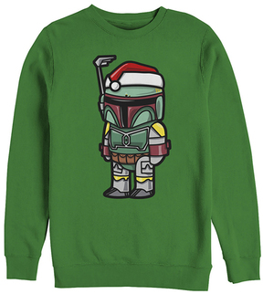 Fifth Sun Star Wars Kelly Boba Santa Crewneck Sweatshirt - Adult