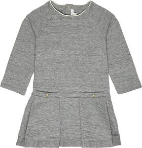 Chloé Pleated cotton-blend dress 6-36 months