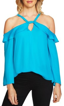CeCe Women's Keyhole Cold Shoulder Top