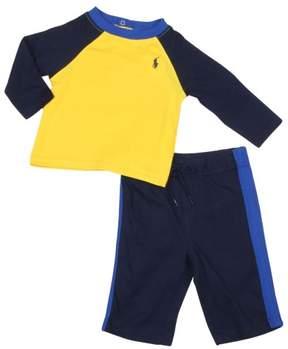 Polo Ralph Lauren Infant Boys' (3M-24M) Baseball Set-Yellow/Navy Blue