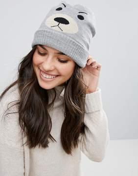 Plush Fleece Lined Bear Beanie Hat