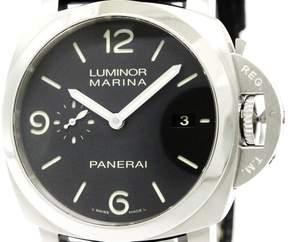 Panerai Luminor Marina PAM00312 Stainless Steel / Leather Automatic 44mm Mens Watch