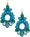 Panacea Multihued Crystal & Silk Drama Drop Earrings