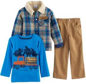 Nannette Toddler Boy 3-pc. Plaid Jacket