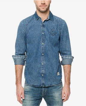 Buffalo David Bitton Men's Contrast-Trim Denim Shirt