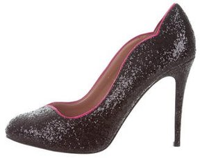 RED Valentino Glitter Round-Toe Pumps w/ Tags