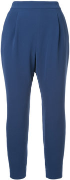 ESTNATION pleated cropped trousers