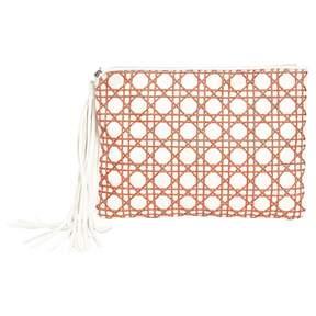 Meli-Melo White Leather Clutch Bag