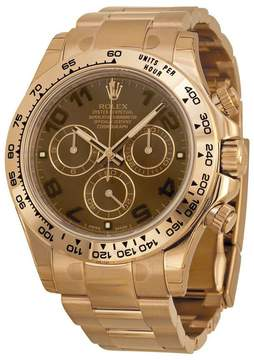 Rolex Cosmograph Daytona Chocolate Dial 18K Everose Gold Oyster Bracelet Automatic Men's Watch