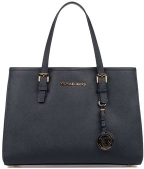 Michael Kors Blue Small Jet Set Travel Saffiano Leather Tote - BLUE - STYLE