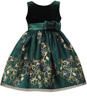 Sorbet Velvet & Taffeta Dress, Size 7-12