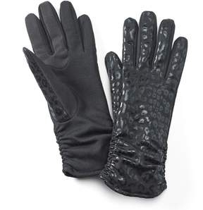 Apt. 9 Leopard Ruched Tech Gloves