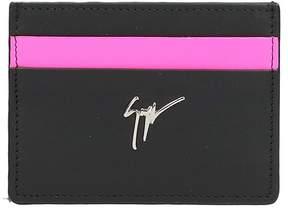 Giuseppe Zanotti Black Leather Card Holder