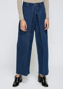 Aalto '90s Blue Cropped Pleats Jean