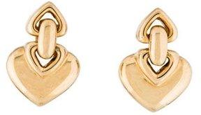 Bvlgari 18K Heart Clip-On Earrings