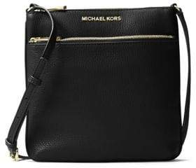 MICHAEL Michael Kors Bedford Small Flat Leather Crossbody Bag - OYSTER - STYLE