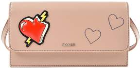 Bally Lafford Heart Applique Strapped Continental Wallet