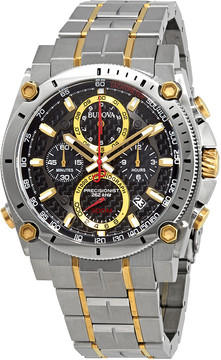 Bulova Precisionist Chronograph Black Dial Men's Watch