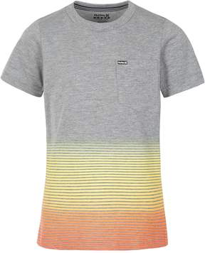 Hurley Boys 4-7 Ombre Striped Graphic Tee