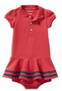 Ralph Lauren Baby's Two-Piece Cotton Polo Dress and Bloomers Set