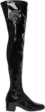 Chiara Ferragni 40mm Eye Stretch Faux Patent Boots