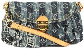 Louis Vuitton Cruise Blue Monogram Denim Canvas Mini Pleaty Raye Bag - BLUE - STYLE