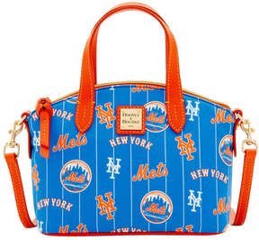 Dooney & Bourke New York Mets Nylon Mini Crossbody Satchel - BLUE/ORANGE - STYLE