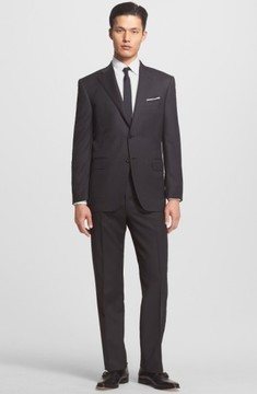 Canali Men's Trim Fit Wool Suit