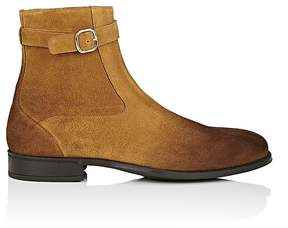 Doucal's Men's Oiled Suede Buckled Tapered-Toe Boots