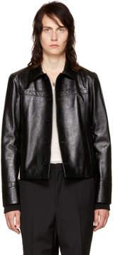 Saint Laurent Black Lambskin Blouson Jacket