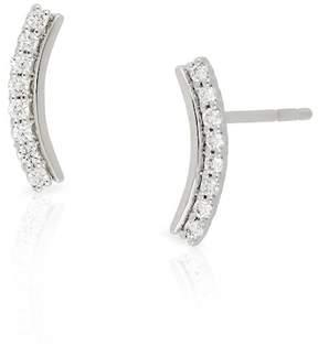 Bony Levy 18K White Gold Diamond Curved Crawler Earrings - 0.12 ctw