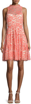 Erin Fetherston Sleeveless Lace Cocktail Dress