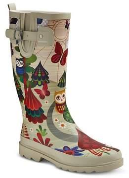 Western Chief Women's Forrest Friends Matte Rain Boots - Cream