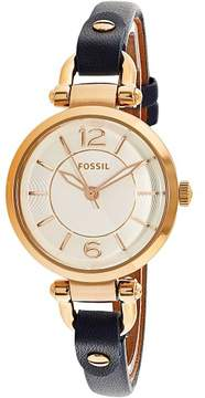 Fossil Women's Georgia Mini ES4026 Blue Leather Quartz Fashion Watch