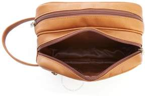 Royce Leather Royce Tan Colombian Leather Travel Toiletry Bag