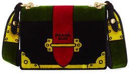Prada Trompe L'oeil Velvet Cahier Bag