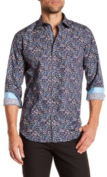 Bugatchi Midnight Shaped Fit Printed Shirt