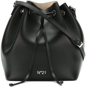 No21 logo bucket shoulder bag