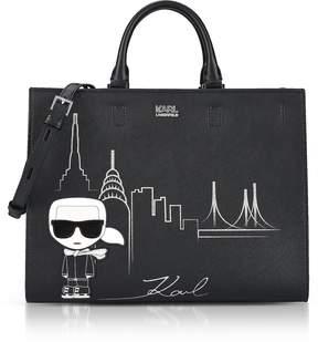Karl Lagerfeld Black NYC Tote Bag