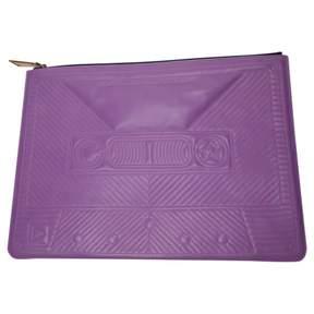 Corto Moltedo Purple Leather Clutch Bag