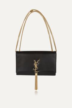 Saint Laurent Monogramme Leather Shoulder Bag - Black - BLACK - STYLE