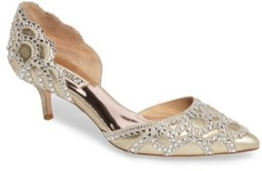 Badgley Mischka Women's 'Ginny' Embellished D'Orsay Pump