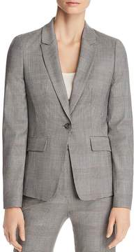 BOSS Jofilia Plaid One-Button Blazer