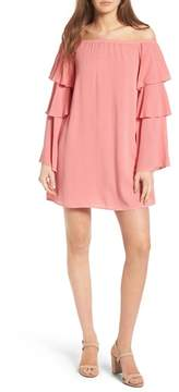 WAYF Brayden Off the Shoulder Shift Dress