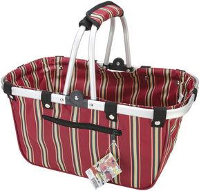 Asstd National Brand JanetBasket Large Red Stripes Aluminum Frame Basket