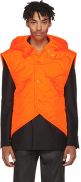 Helmut Lang Orange Quilted NY Vest
