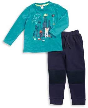 Petit Lem Baby Boy's Two-Piece Tech Top & Sweatpants Set