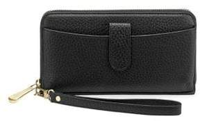 GiGi New York Large Leather Zip Wallet