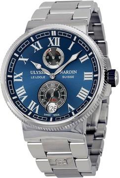 Ulysse Nardin Marine Chronometer Blue Dial Men's Watch 1183-126-7M-43